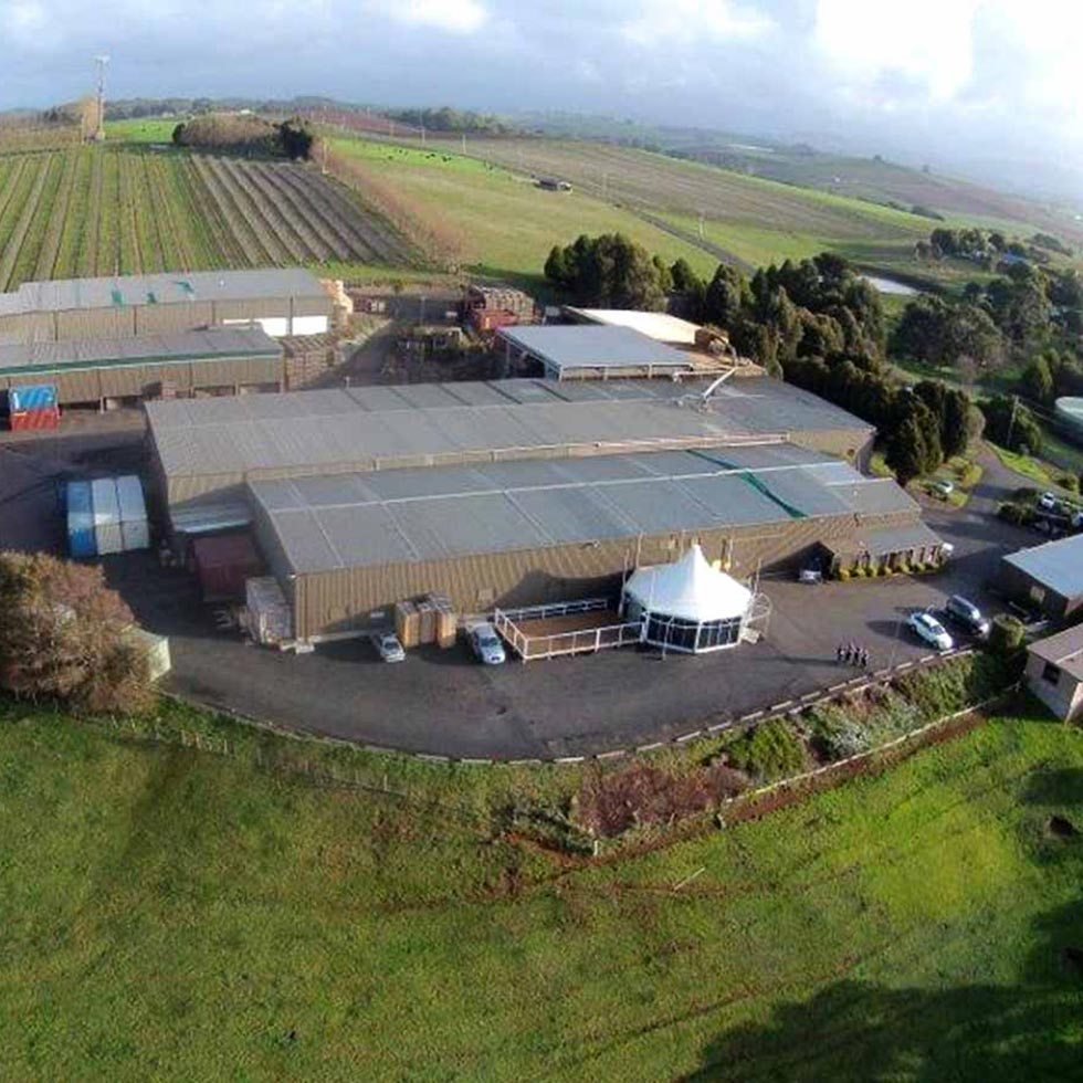 Aerial photo of shop